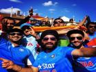 It's the grand India-Pakistan Champions Trophy final and the Indian cricket fans are rejoicing