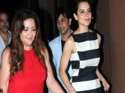 Images: Kangna Ranaut celebrates birthday at Aurus, Juhu