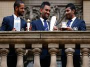 From close or afar: Dhoni, Sir Jadeja and Dhawan are the Champions of India