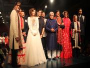 The Bachchans, the Kapoors and the Sinhas: Bollywood stars attend Shabana Azmi's Mijwan fashion show