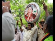 Photos: As Amma returns, fans and AIADMK supporters celebrate her release