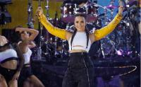 Demi Lovato performs hit songs in Central Park for ABC's Good Morning America