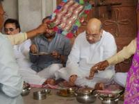 Why Amit Shah had a lot on his plate while eating at a UP Dalit's home