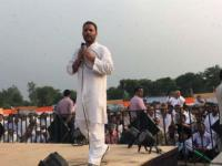 Shoe hurled at Rahul Gandhi during roadshow, BJP leader condemns attack
