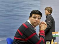 Anand holds Carlsen with black in Norway