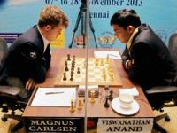 World Chess C'ship: Anand loses again, Carlsen a draw away from title