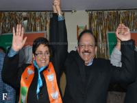 Photos: Harsh Vardhan hands Krishna Nagar to Kiran Bedi in huge BJP roadshow