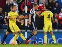 Premier League: West Brom hammer Chelsea 3-0 as Fabregas gets comical red card