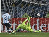 Copa America: Redemption for Tevez as Argentina edge Colombia in penalty shoot-out