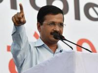AAP cornered over display of Kejriwal's name at Independence Day function