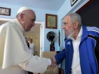 Historic meeting in Cuba: Pope Francis meets Fidel Castro after warning against ideology