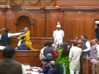 Watch: AAP workers protest after OP Sharma's sexist remarks at AAP MLA Alka Lamba