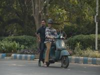 Pimp my ride: Amitabh Bachchan travels on a scooter in Kolkata for upcoming film 'Teen'