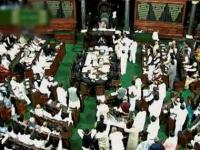 Lok Sabha: Congress members shout slogans, House conducts some business