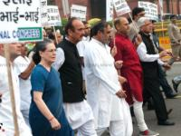 PM Modi endorsing acts of hate with his silence: Sonia leads Congress protest march to Raisina Hill