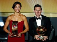 Lionel Messi ends Ronaldo's Ballon D'or reign with 5th trophy, Carli Llyod wins women's award