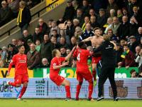 EPL: Liverpool win nine-goal thriller at Norwich, Vardy sends Leicester top, Austin sinks Man Utd