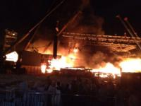 Fire strikes at the heart of Modi's image building exercise, guts Make In India stage in Chowpatty, Fadnavis orders probe