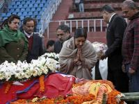 <b>Sushma</b> <b>Swaraj</b> pays homage to Sushil Koirala, offers condolences to Nepal president, PM