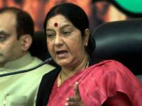Judge for yourself: Sushma asks Twitterati to respond to <b>Manish</b> <b>Tewari</b>'s jibe about crucified Indian priest