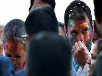 Holi Hai: From Rahul and Sonia to Amit Shah and Lalu, netas celebrate the festival of colours