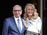 Fourth time plucky: <b>Rupert</b> <b>Murdoch</b> marries Jerry Hall