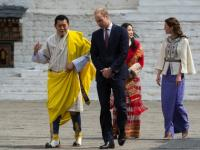 The royal meeting: Britain's William and Kate meet Bhutan's king and queen