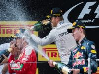 Hat-trick for Nico Rosberg who storms to victory in chaotic Chinese GP; Vettel, Kvyat join him on podium