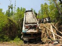 <b>Chhattisgarh</b>: 13 killed, 53 injured after bus falls into dry rivulet