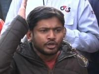 Kanhaiya Kumar shown black flags in Patna, two persons detained