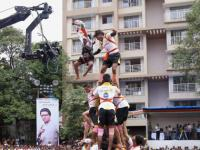 Krishna Janmashtami: MNS backed 'Dahi handi' human pyramids reach for the sky, cops see red