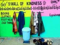 Watch: Walls of Kindness in Hyderabad encourage people to leave what they don't need