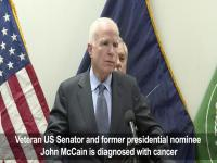 Watch: US Senator John McCain diagnosed with brain cancer