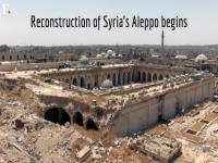 Watch: Reconstruction of the Old City of Syria's Aleppo begins