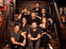 Golmaal Again title track is an amplified version of the original with more stars, action