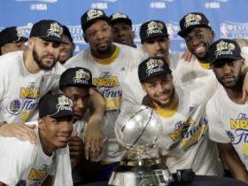 NBA playoffs: Stephen Curry, Kevin Durant shine as Warriors sweep into third straight Finals
