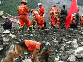 China landslide: Rescue crews recover nine bodies as search operations continue