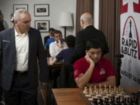 Viswanathan Anand vs Garry Kasparov: Stalwarts show glimpses of brilliance but settle for draw at Saint Louis Rapid & Blitz