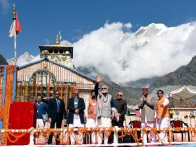 In Kedarnath, Modi makes strong pitch for tourism, attacks Congress for refusing help after 2013 floods