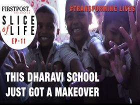 #TransformingLives: Watch how this school in Dharavi got a colourful makeover