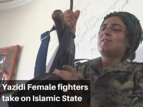 Watch: Sold by Islamic State in Raqa, Yazidi female fighters back for revenge