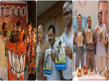 MCD Election 2017: How BJP, Congress, AAP manifestos stack up against each other