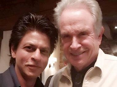 Shah Rukh Khan finally met his favourite Hollywood star,  Warren Beatty