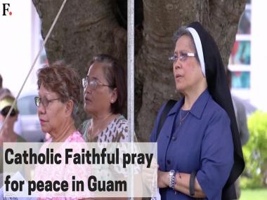 Watch: Guam residents pray for peace as North Korea deadline looms