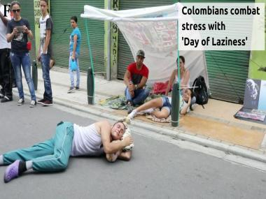 Watch: Colombians combat stress with 'Day of Laziness'