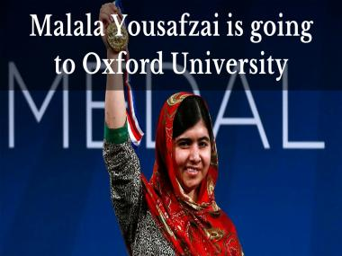 Malala Yousafzai, youngest-ever Nobel laureate, to study at Oxford University