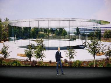 Here's a look at the Apple Park campus and the Steve Jobs Theatre