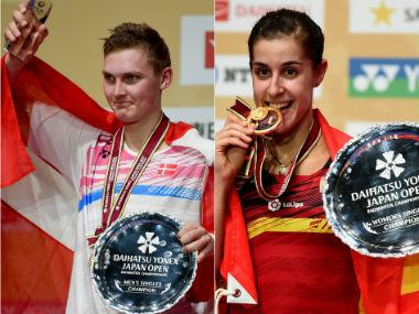 Japan Open Superseries: Viktor Axelsen underlines his supremacy; Carolina Marin gets her mojo back