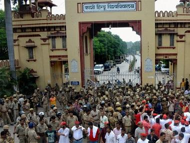 BHU students' protest: HRD ministry calls V-C Tripathi to Delhi; Varanasi DC blames university for violence