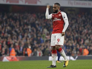 Premier League: Arsenal ride on Alexandre Lacazette brace to overshadow Gareth Barry's milestone